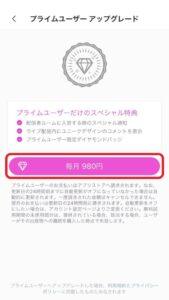 プライムユーザーの登録方法の画像