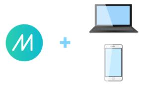 ミラティブのロゴとパソコンとスマホ画像