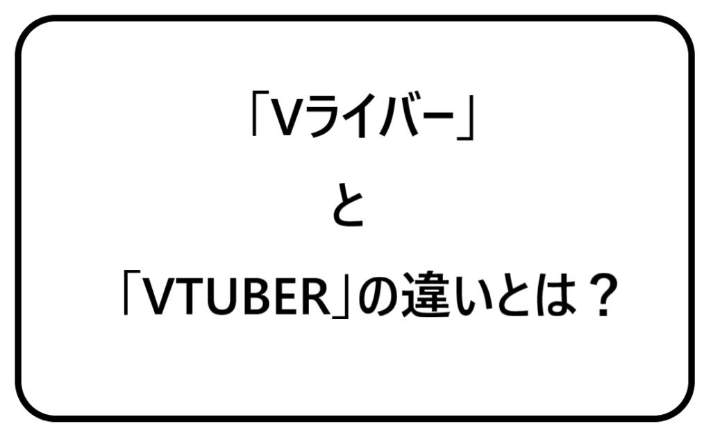 VライバーとVTUBERの違いとは?